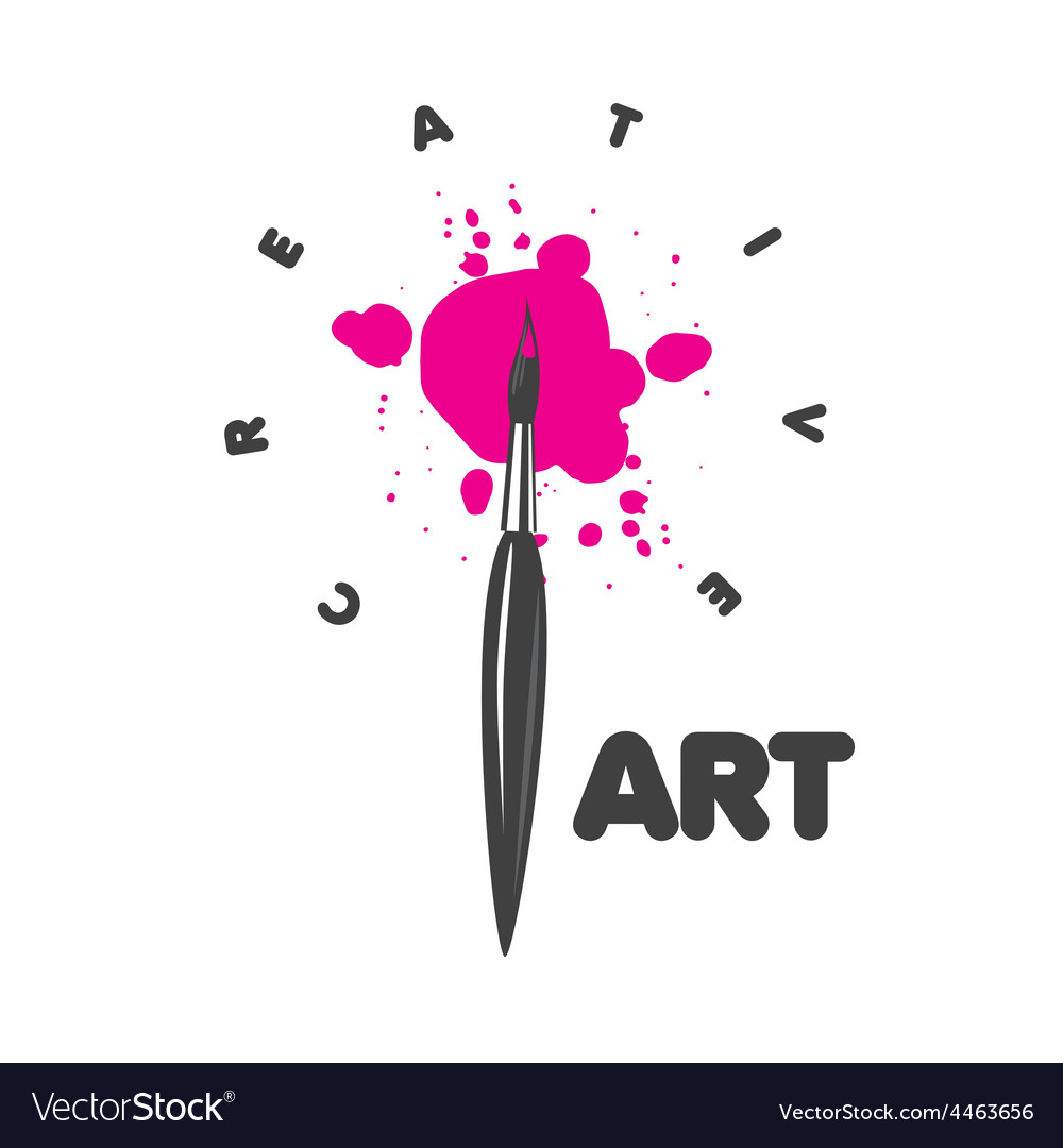Logo brush and blots of paint vector | Price: 1 Credit (USD $1)