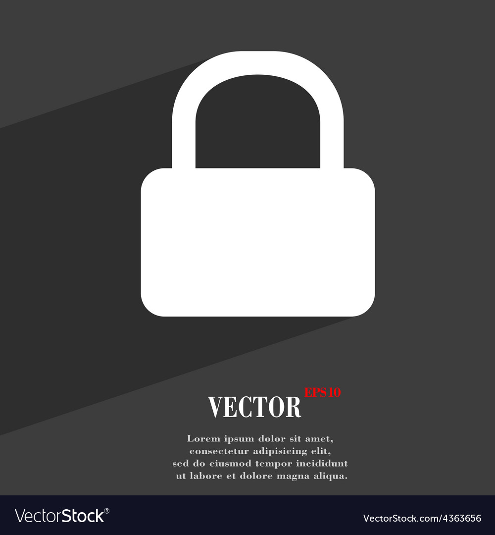 Pad lock icon symbol flat modern web design with vector | Price: 1 Credit (USD $1)
