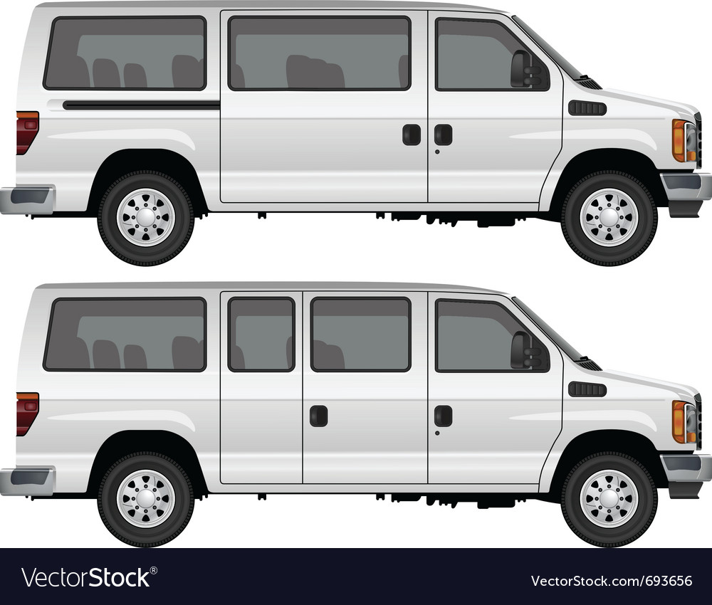 Passenger van vector | Price: 1 Credit (USD $1)