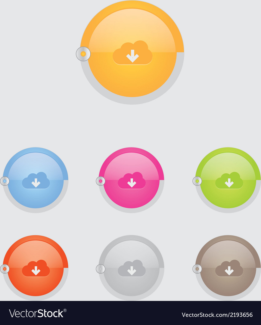 Round cloud download button bar vector   Price: 1 Credit (USD $1)