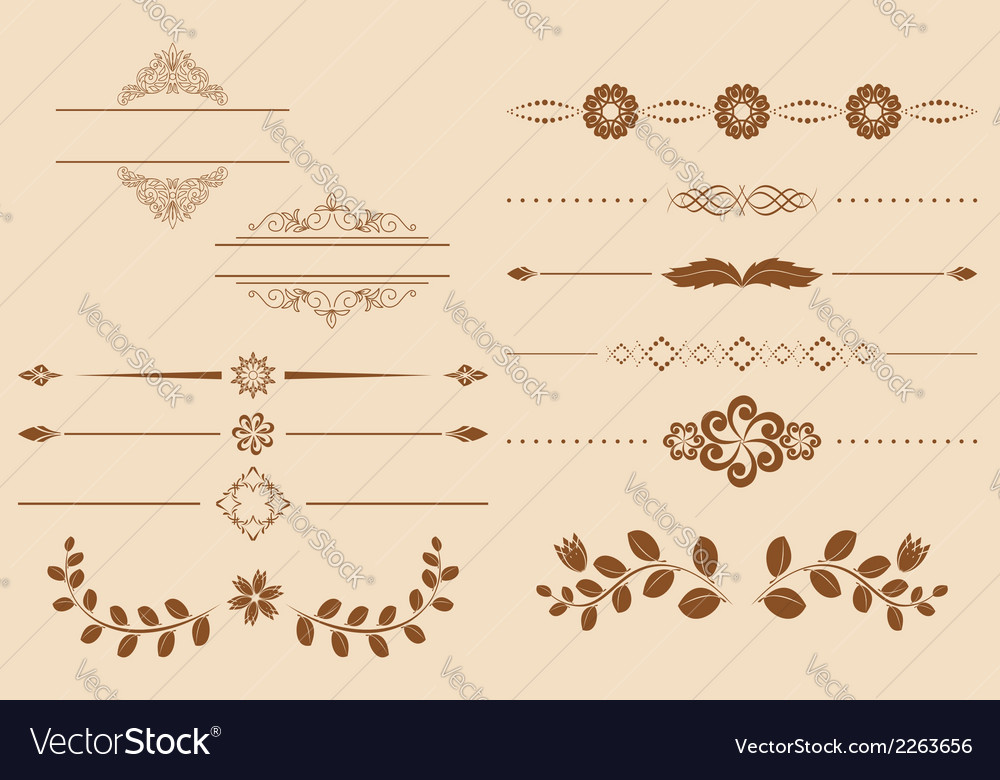 Set of vintage delimiters vector | Price: 1 Credit (USD $1)