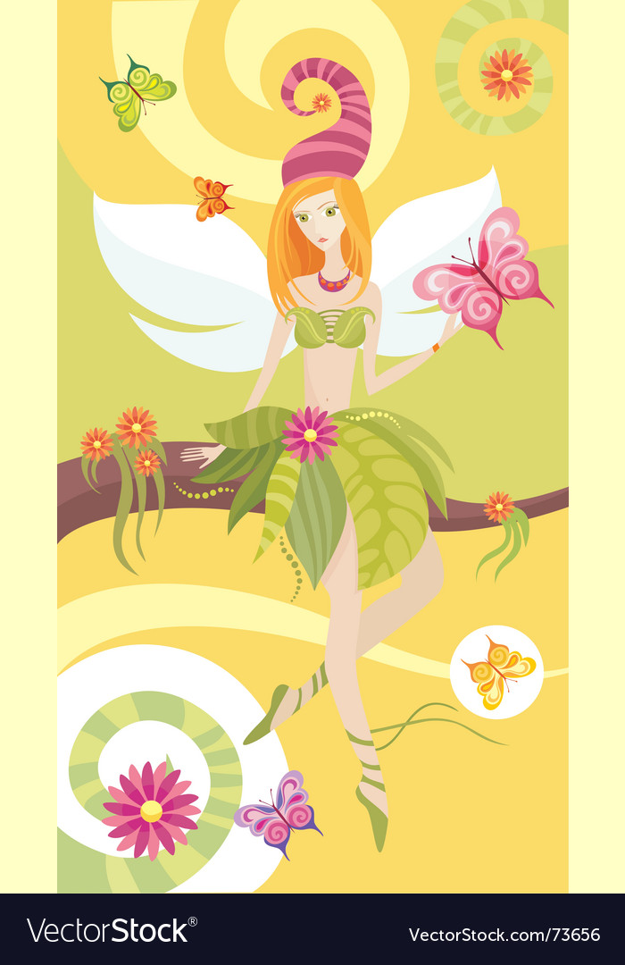 Tree fairy vector | Price: 3 Credit (USD $3)