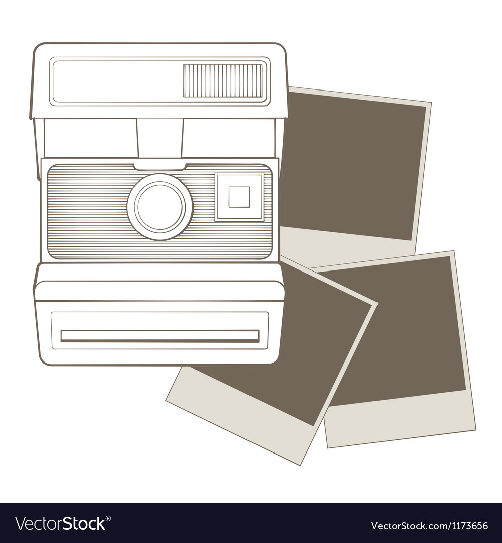 Vintage photo camera with vignette vector | Price: 1 Credit (USD $1)