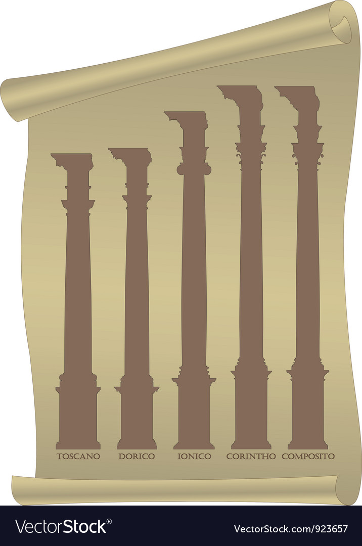 Antique columns vector