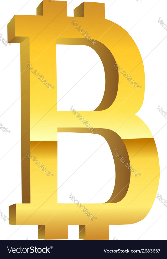 Bitcoin golden currency symbol vector | Price: 1 Credit (USD $1)