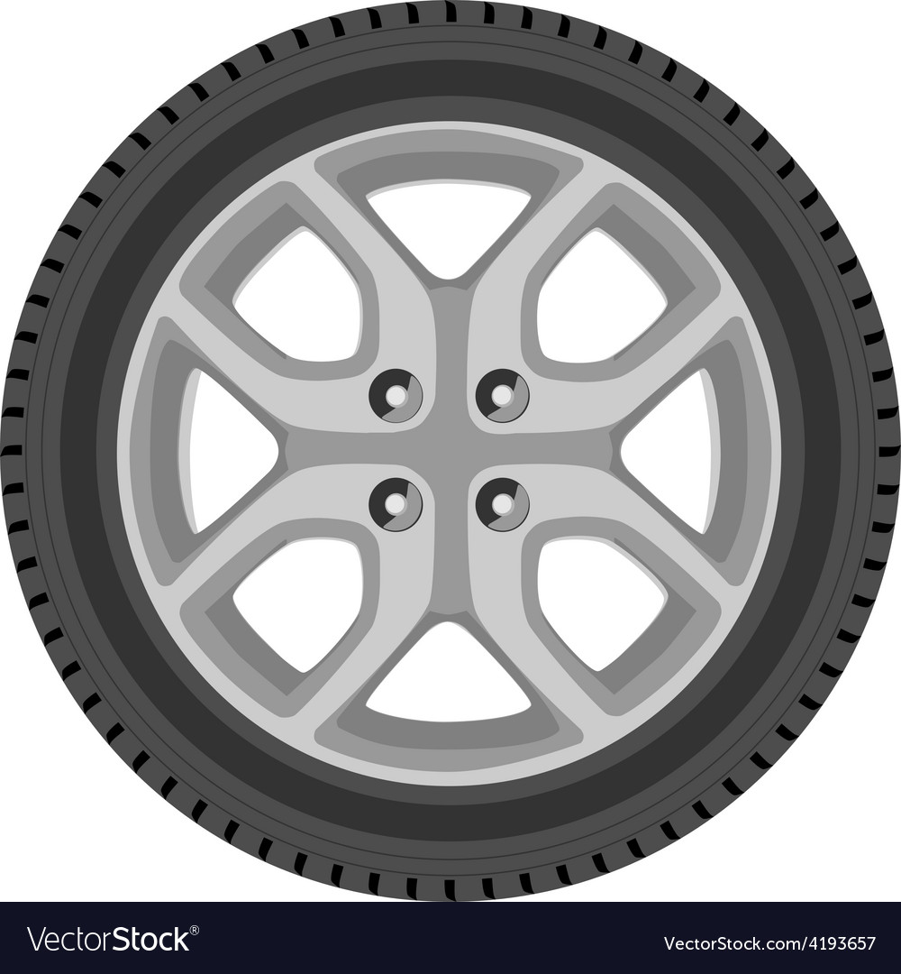 Car wheel vector | Price: 1 Credit (USD $1)