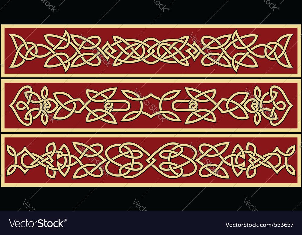 Celtic ornaments and patterns for irish or religio vector | Price: 1 Credit (USD $1)