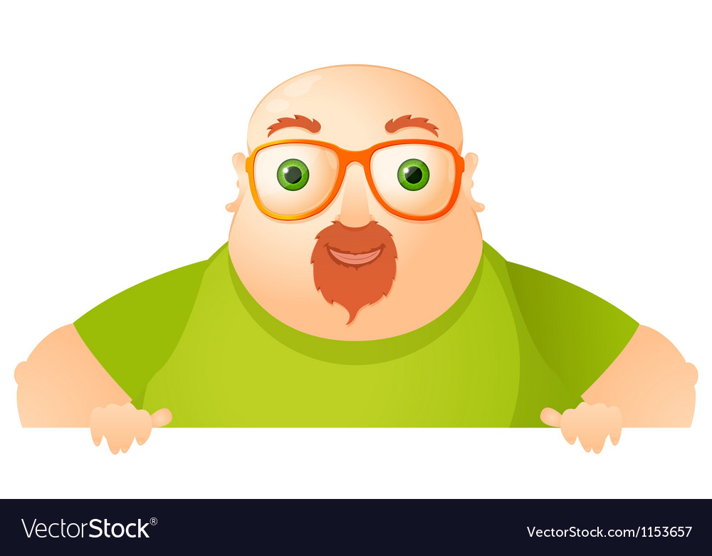Cheerful chubby man vector | Price: 1 Credit (USD $1)
