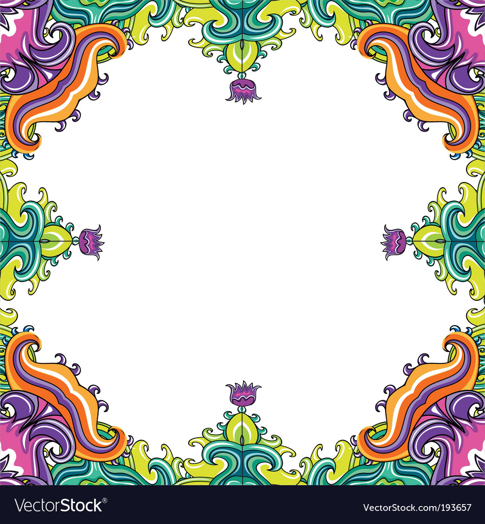 Floral frame floral vector | Price: 1 Credit (USD $1)