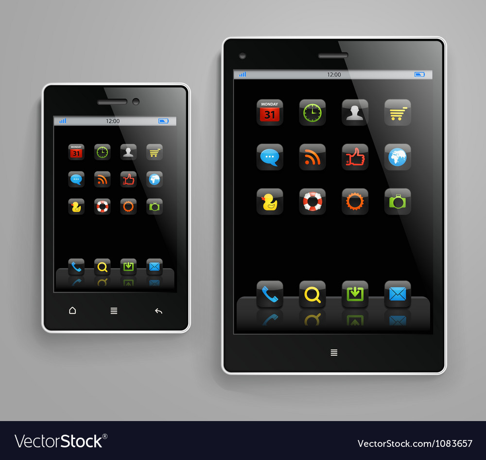 Modern gadgets vector | Price: 3 Credit (USD $3)