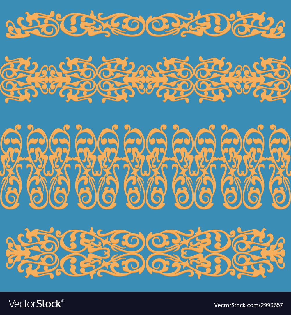 Pattern ornament orange vector | Price: 1 Credit (USD $1)