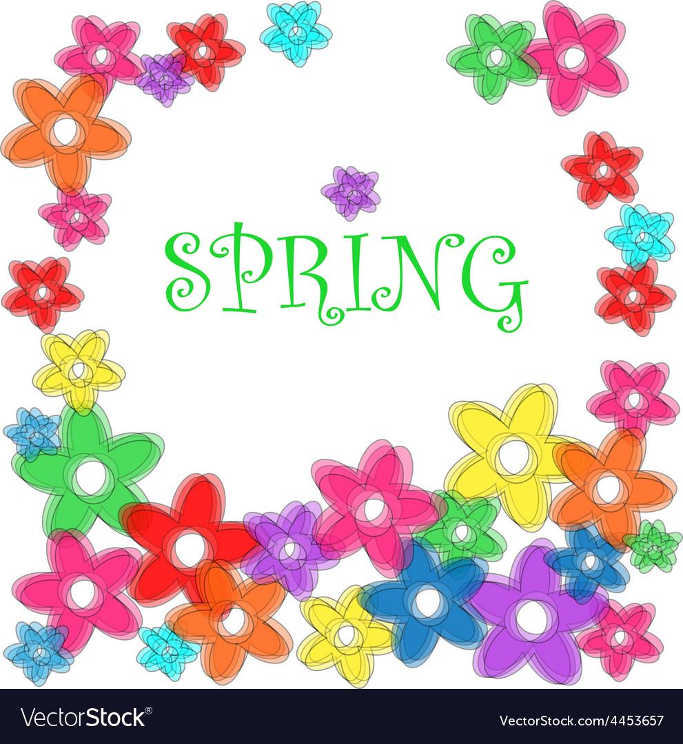 Spring floral frame vector | Price: 1 Credit (USD $1)
