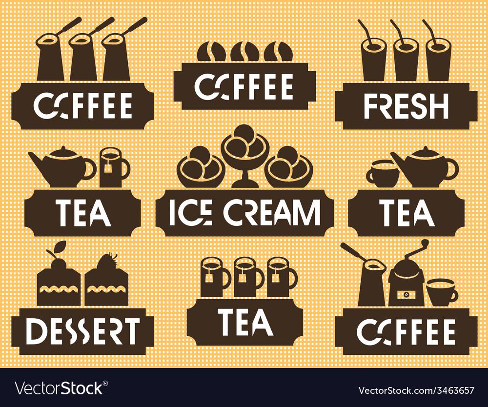 Tea coffee dessert vector | Price: 1 Credit (USD $1)