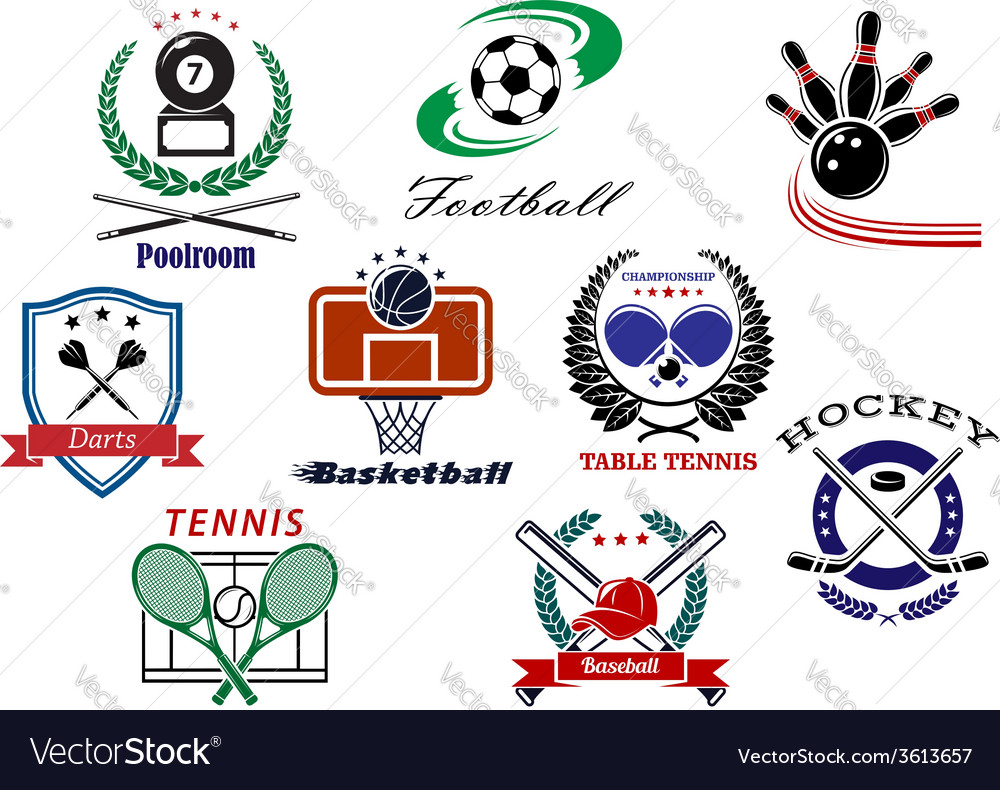 Team sports emblems and logo vector | Price: 1 Credit (USD $1)