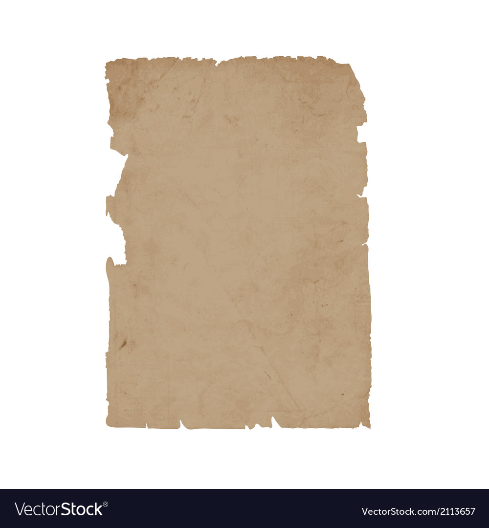 Torn sheet old paper vector | Price: 1 Credit (USD $1)