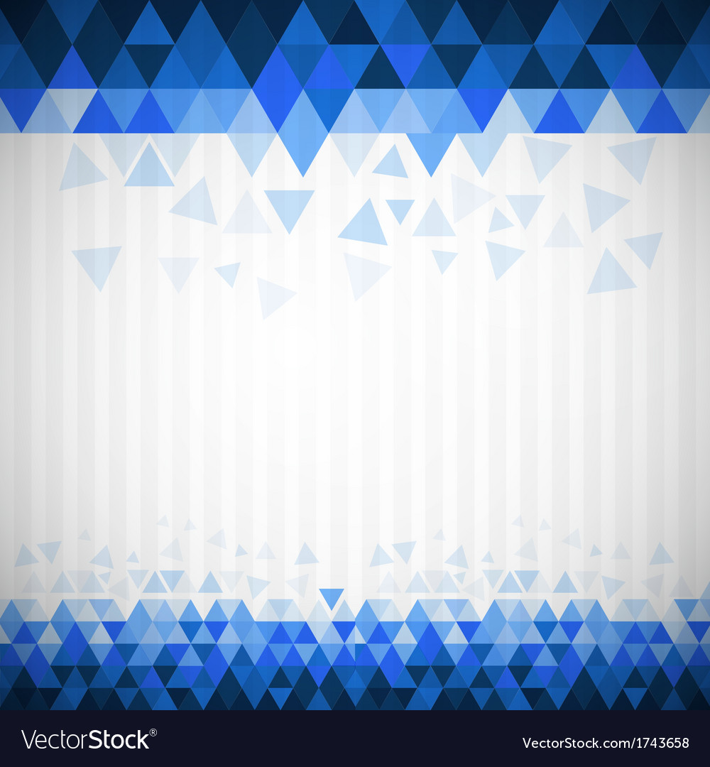 Abstract retro blue triangle background vector | Price: 1 Credit (USD $1)