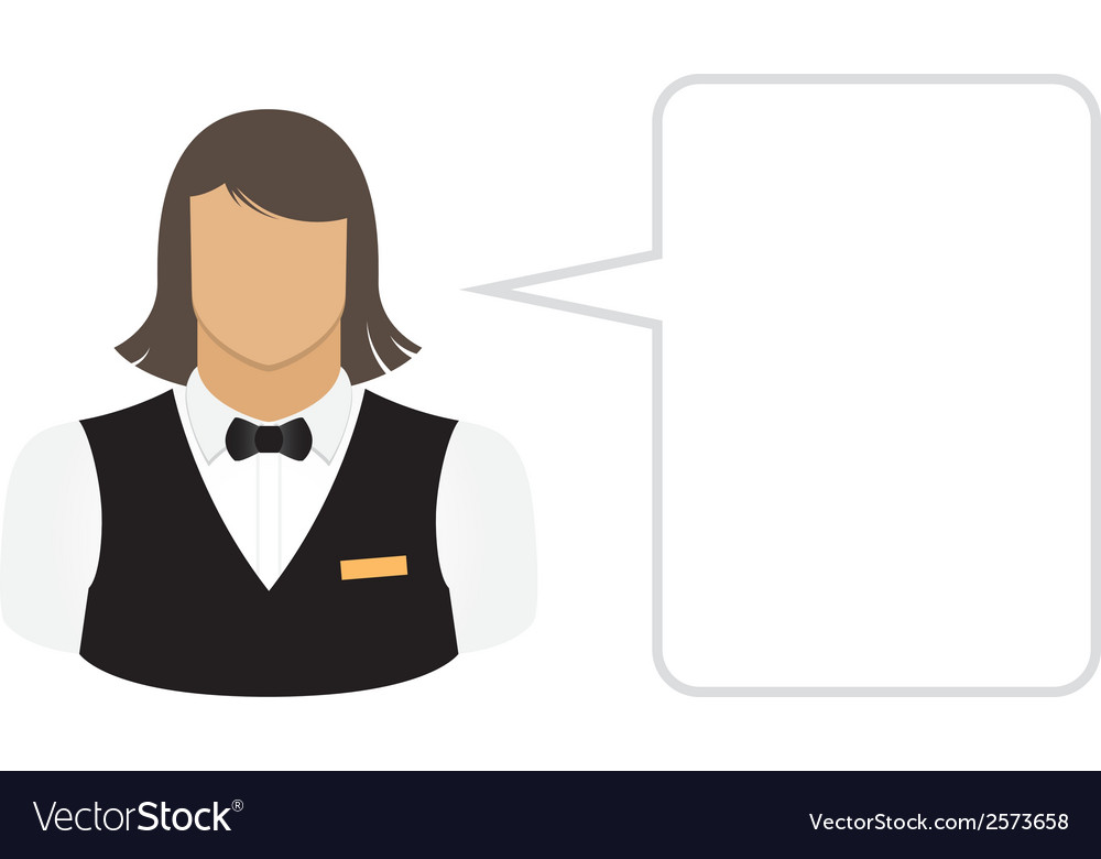 Bartender waiter avatars and user icons vector | Price: 1 Credit (USD $1)