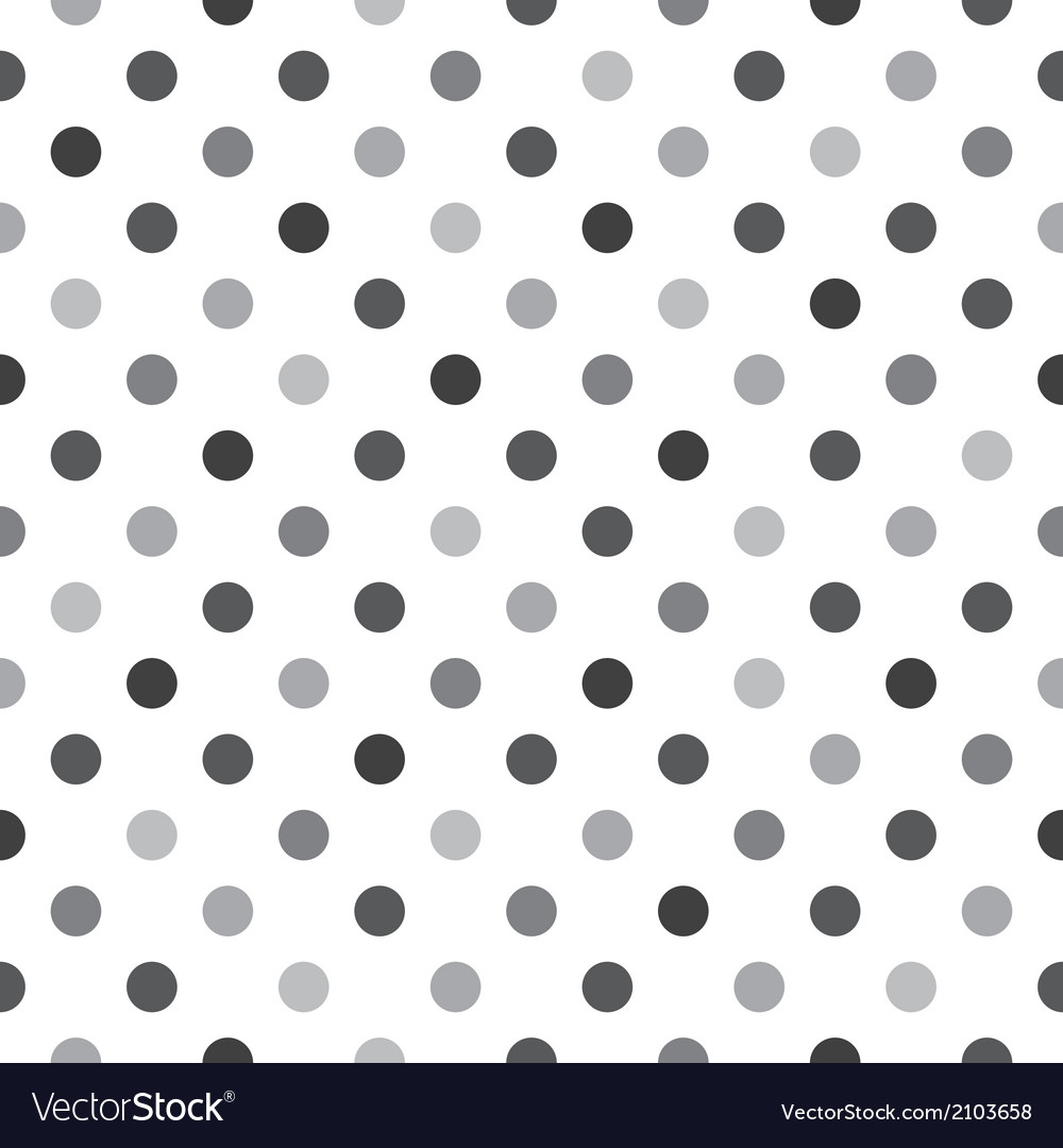 Black grey polka dots tile white background vector | Price: 1 Credit (USD $1)