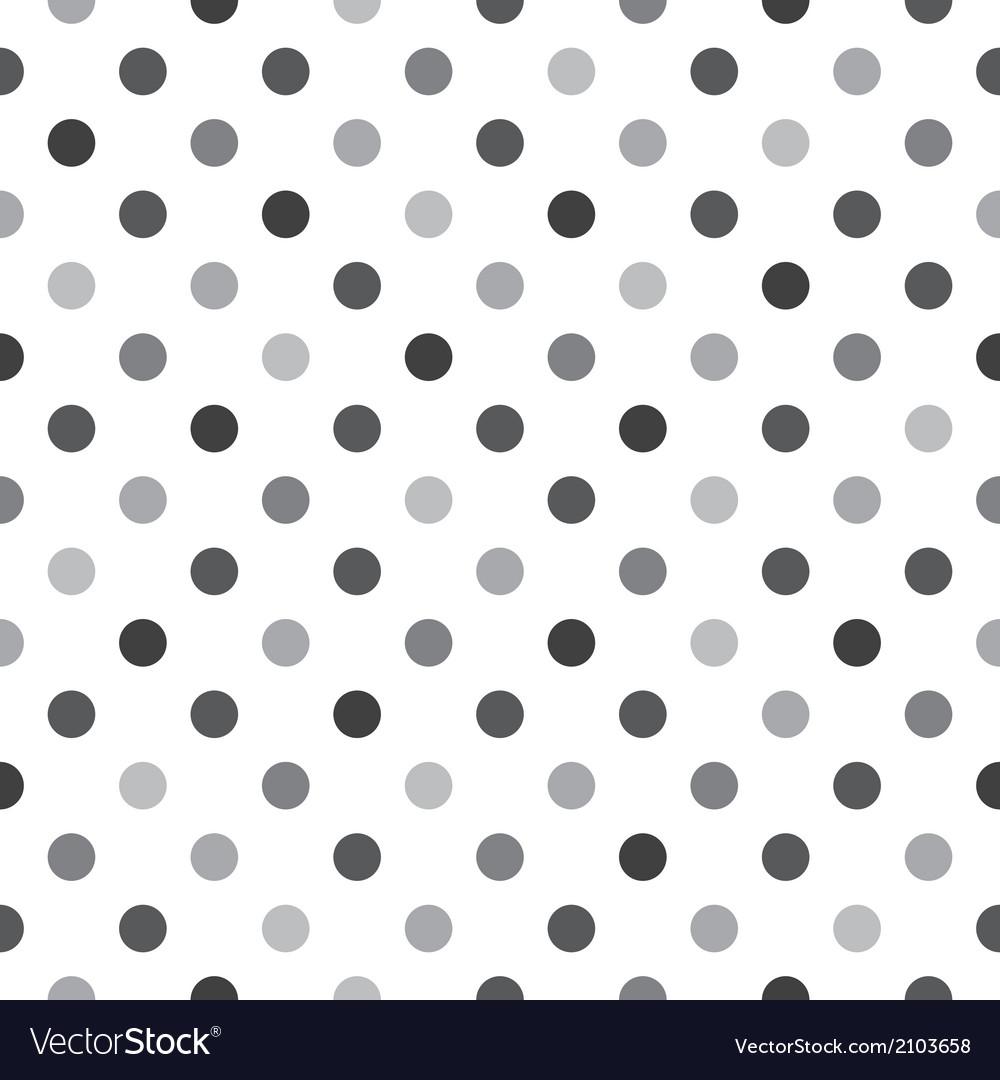Black grey polka dots tile white background vector   Price: 1 Credit (USD $1)