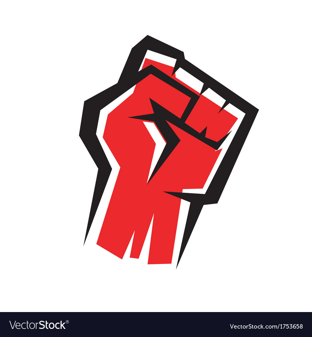 Fist stylized icon revolution concept vector | Price: 1 Credit (USD $1)