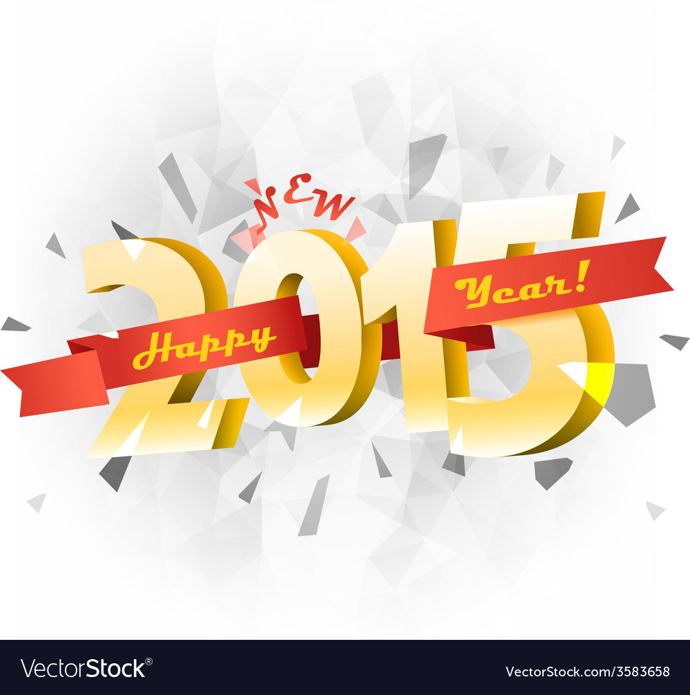 Happy new 2015 year banner vector | Price: 1 Credit (USD $1)