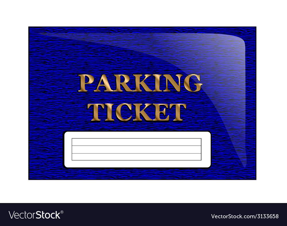Parking ticket vector | Price: 1 Credit (USD $1)