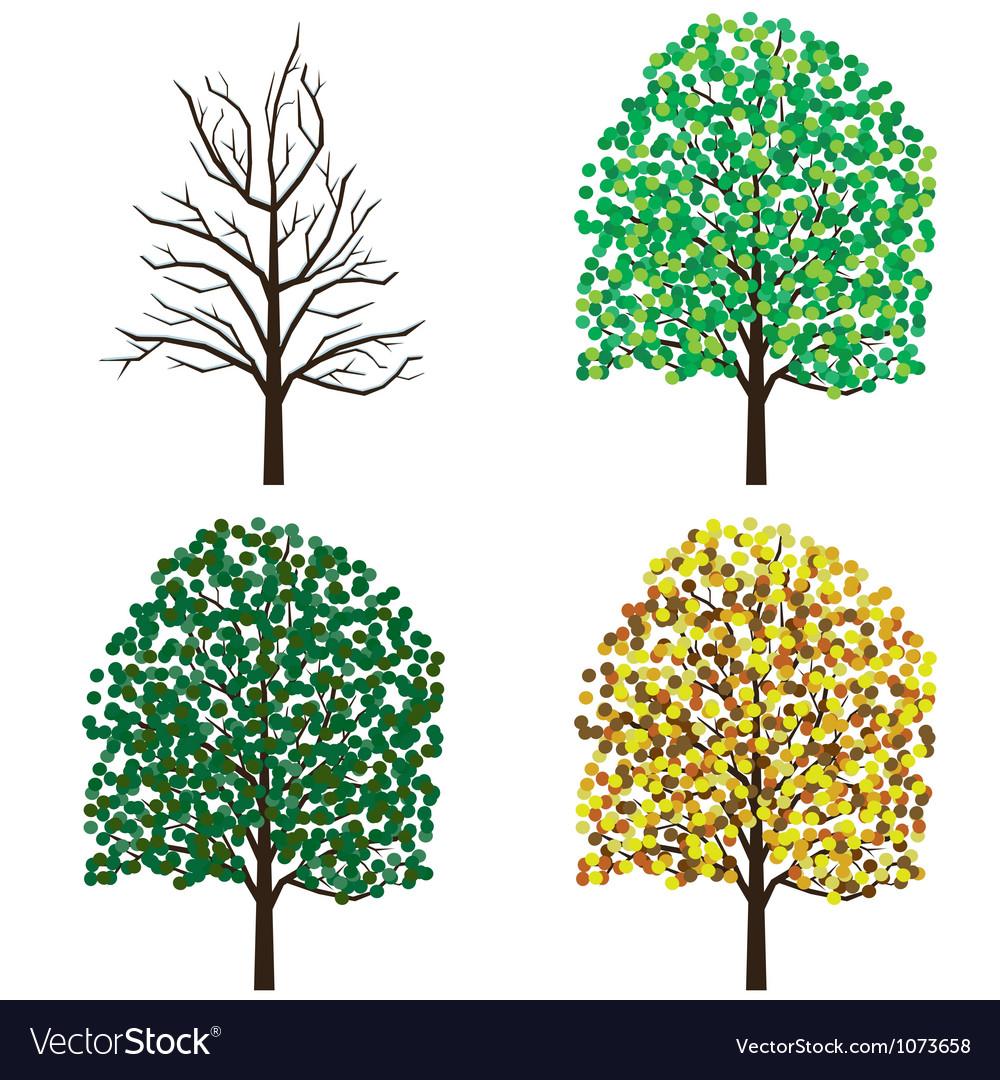 Season trees vector | Price: 1 Credit (USD $1)