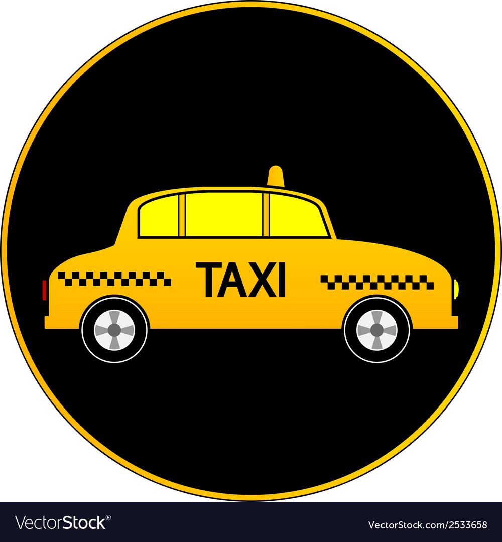 Taxi car button vector | Price: 1 Credit (USD $1)