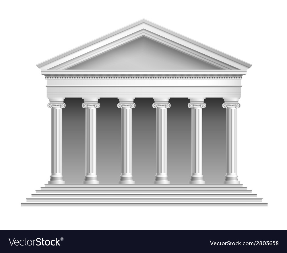 Temple with colonnade vector | Price: 1 Credit (USD $1)