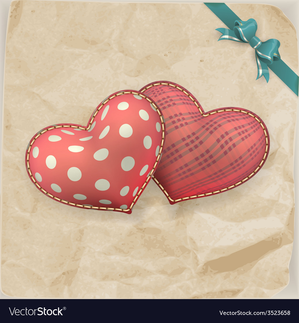 Vintage handmaded valentines day toy eps 10 vector | Price: 3 Credit (USD $3)