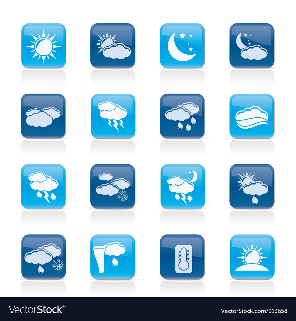 Weather and meteorology icons vector | Price: 1 Credit (USD $1)