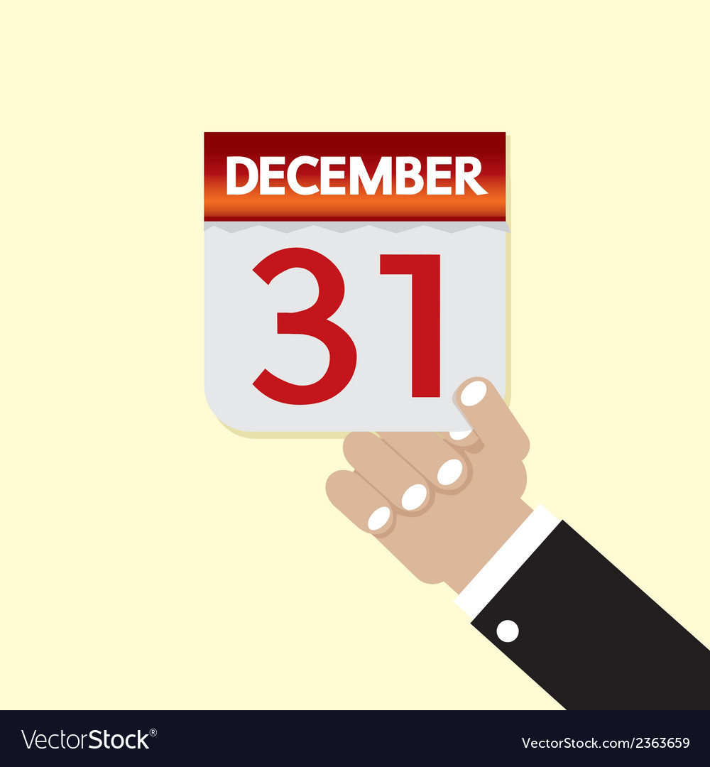 31st december calendar vector | Price: 1 Credit (USD $1)