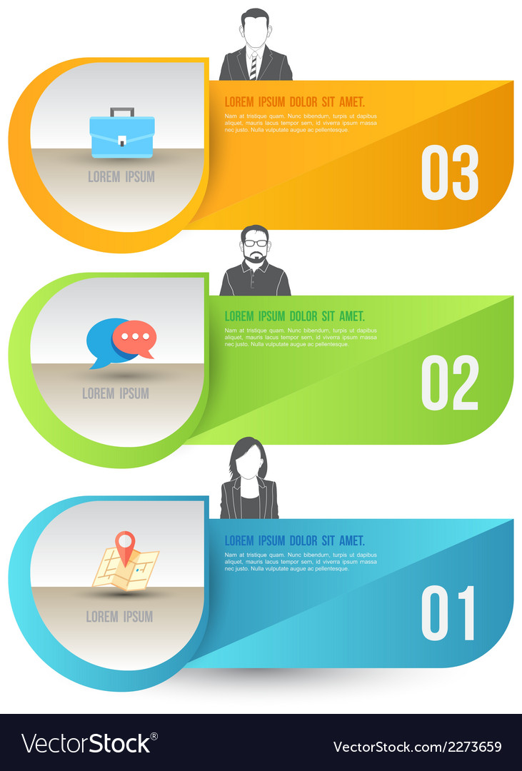 Abstract business infographics options template vector | Price: 1 Credit (USD $1)