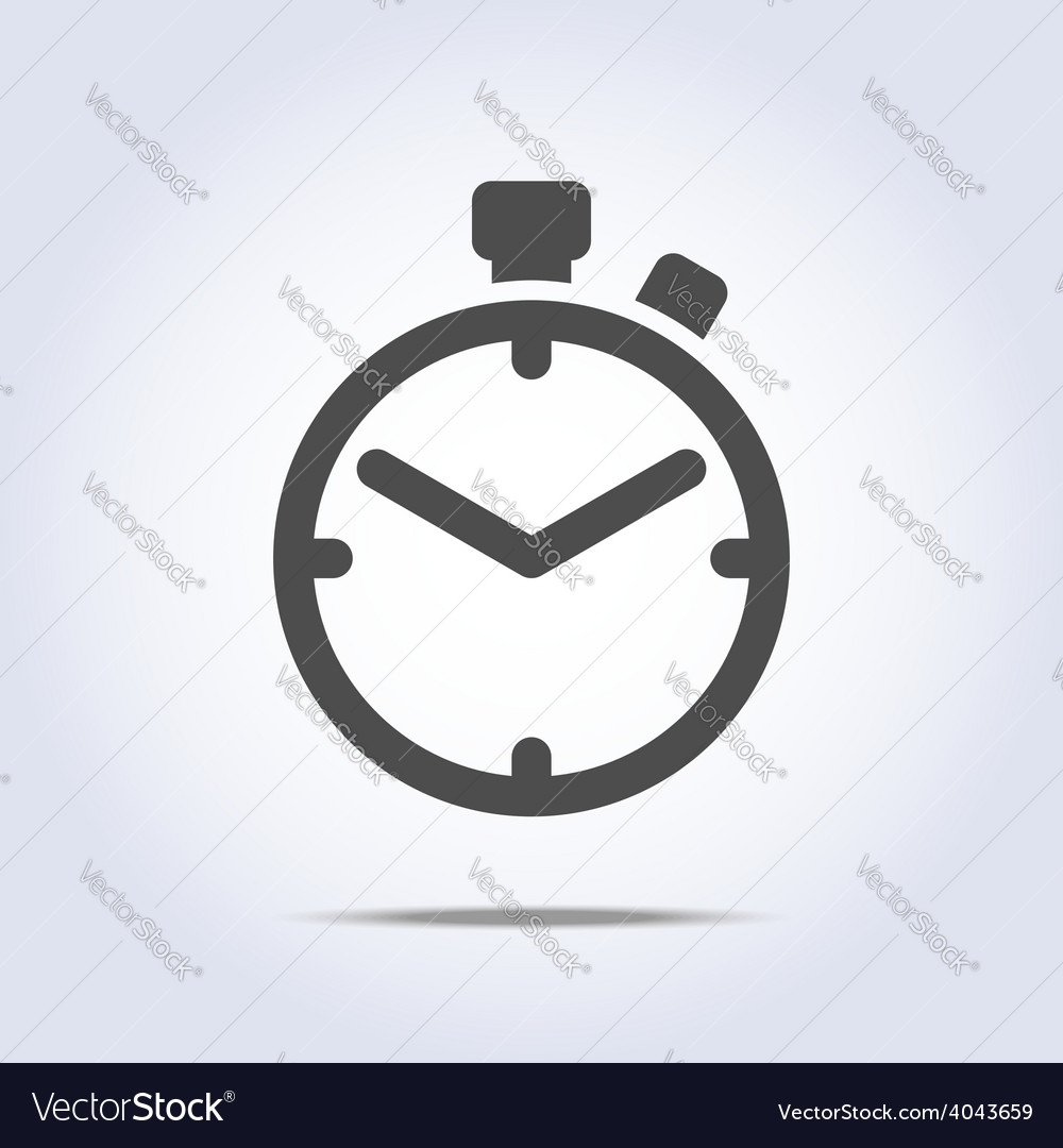 Abstract chronometer icon gray color vector | Price: 1 Credit (USD $1)
