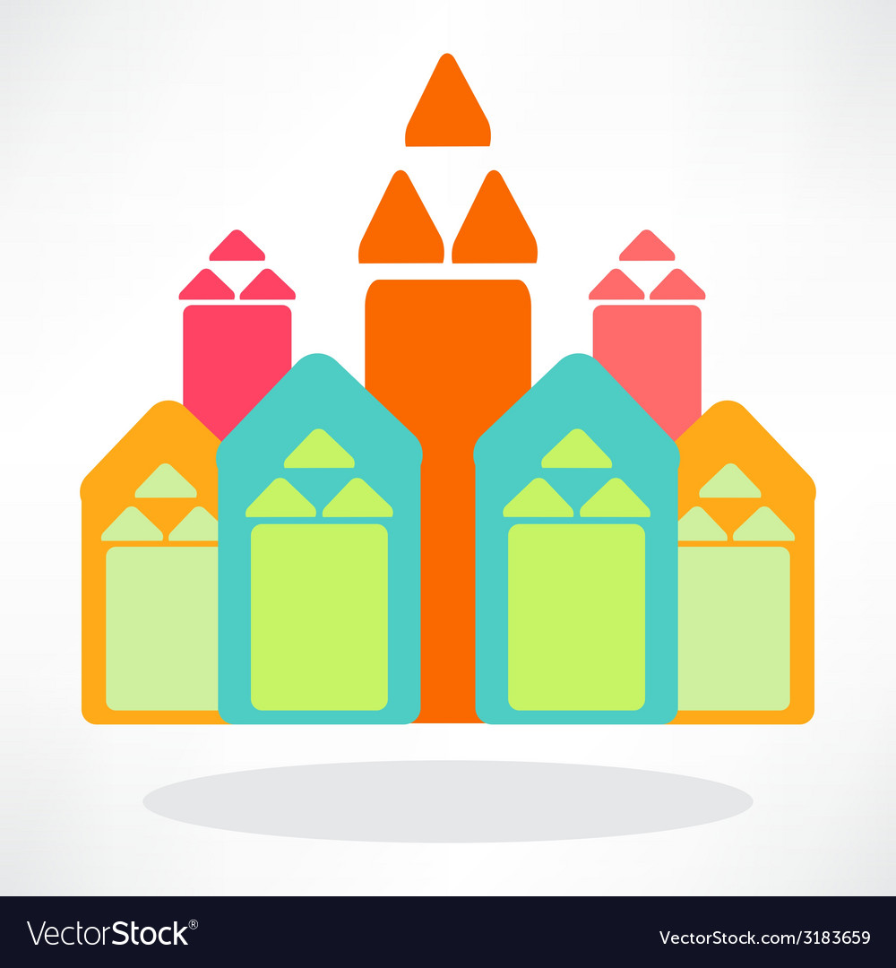 Colorful houses vector   Price: 1 Credit (USD $1)