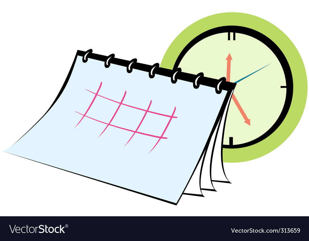 Planner calendar vector | Price: 1 Credit (USD $1)