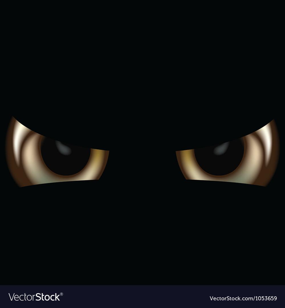 Spooky eyes vector