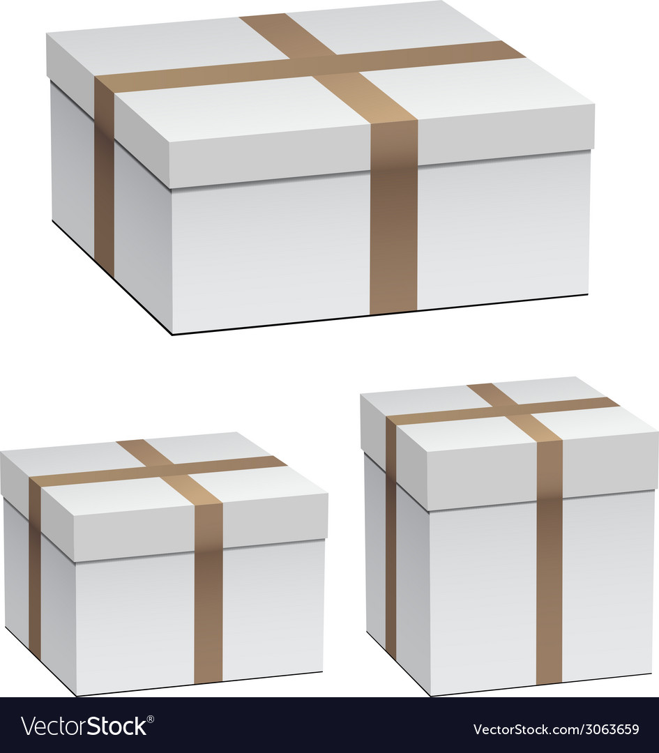 White shipping boxes vector | Price: 1 Credit (USD $1)