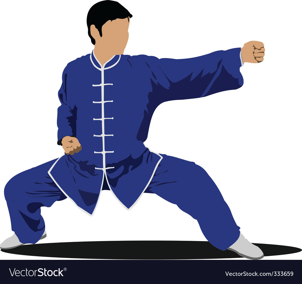 Wushu master. martial arts vector | Price: 1 Credit (USD $1)
