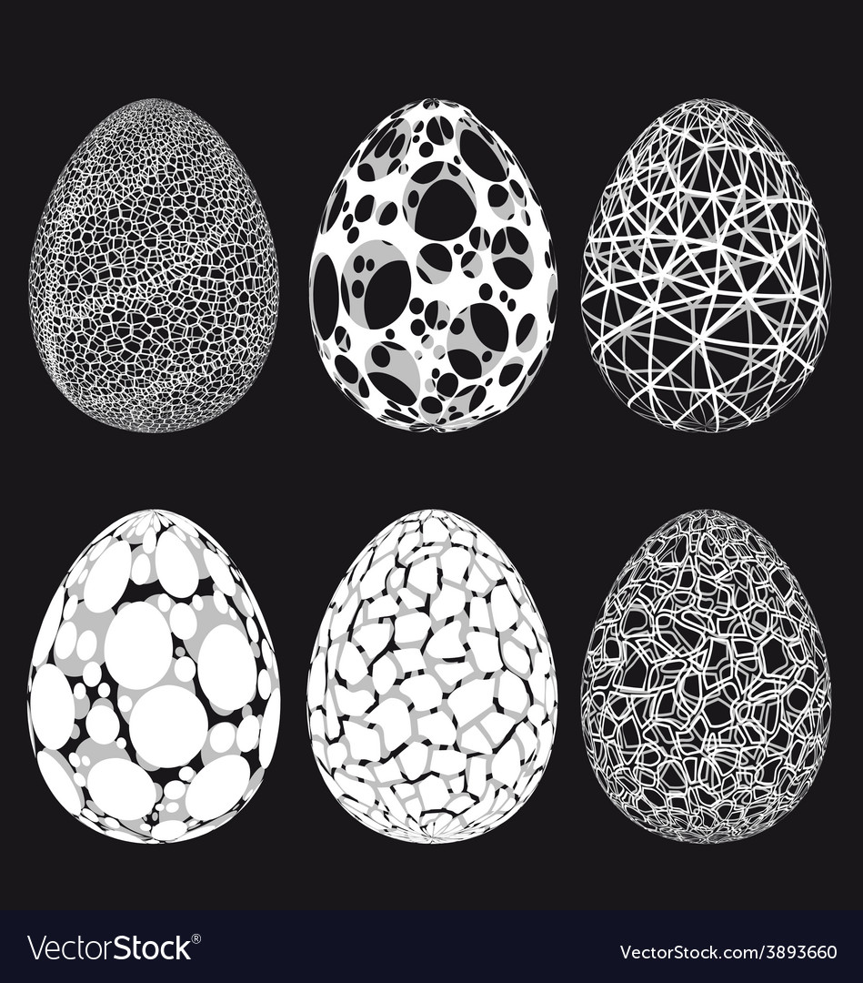Abstract 3d easter eggs set vector | Price: 1 Credit (USD $1)