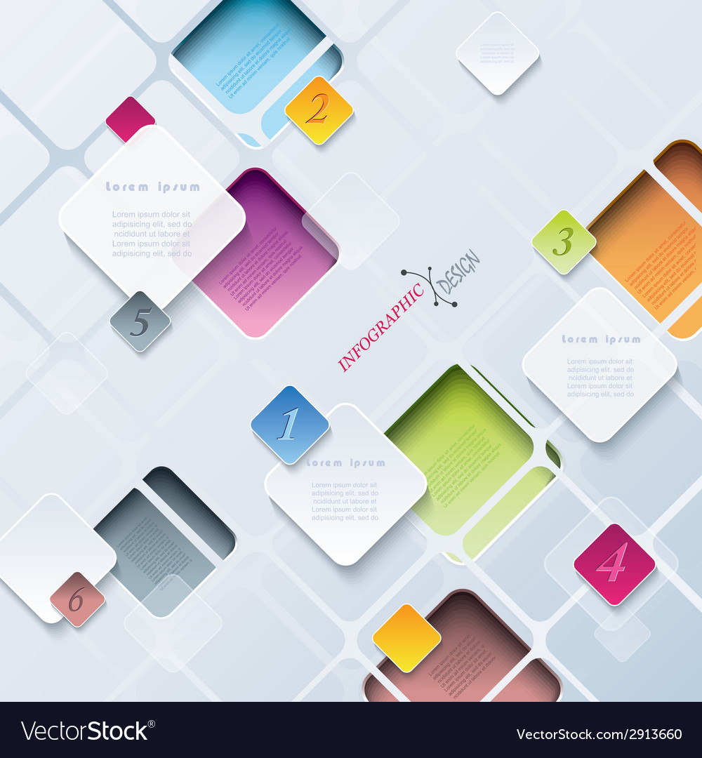 Abstract background infographics vector