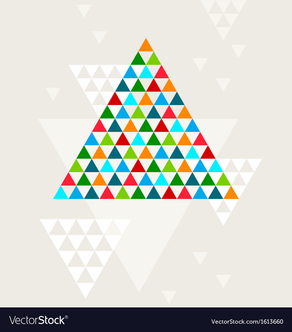 Abstract geometric christmas tree vector | Price: 1 Credit (USD $1)
