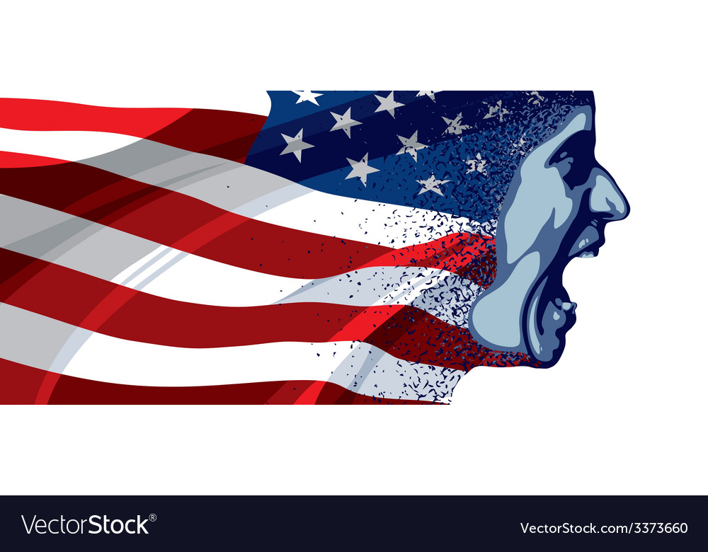 Angry face usa vector | Price: 3 Credit (USD $3)