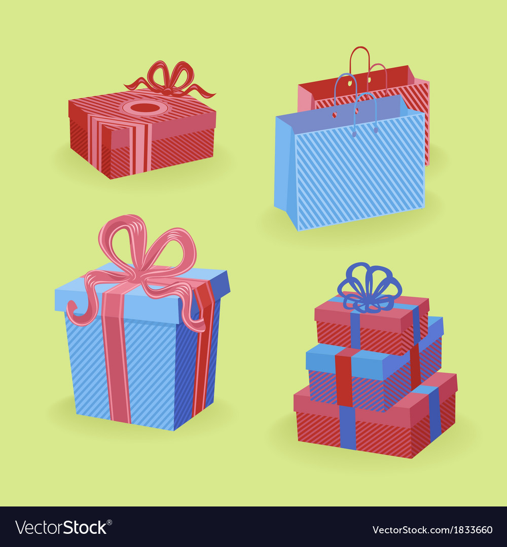 Bright gifts vector | Price: 1 Credit (USD $1)