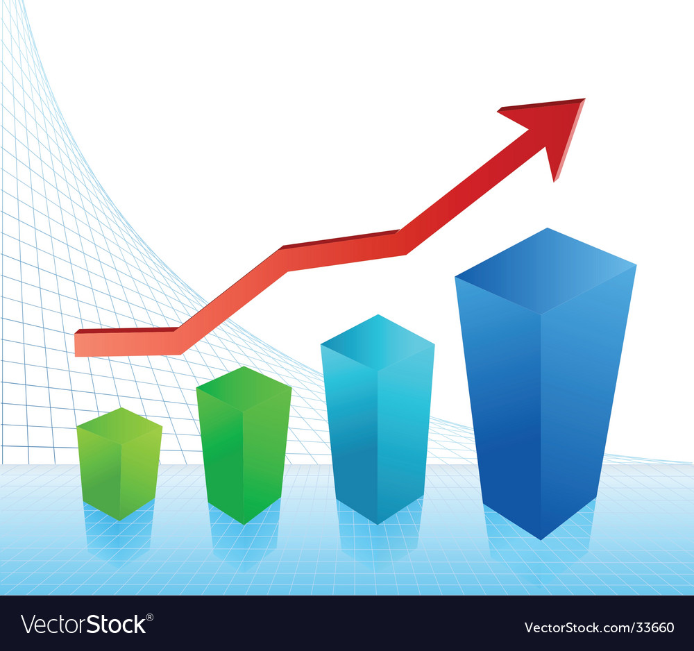 Business profit chart vector | Price: 1 Credit (USD $1)