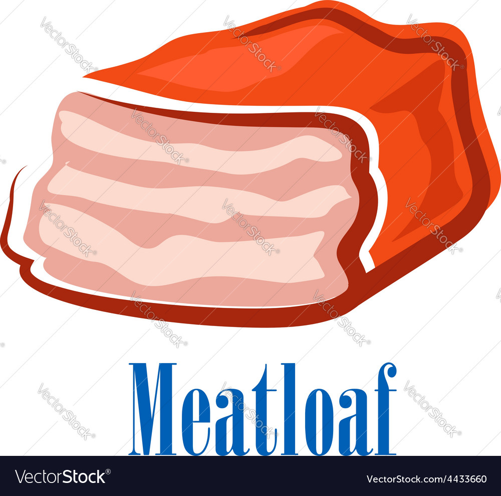 Cartoon fresh isolated beef meatloaf vector | Price: 1 Credit (USD $1)