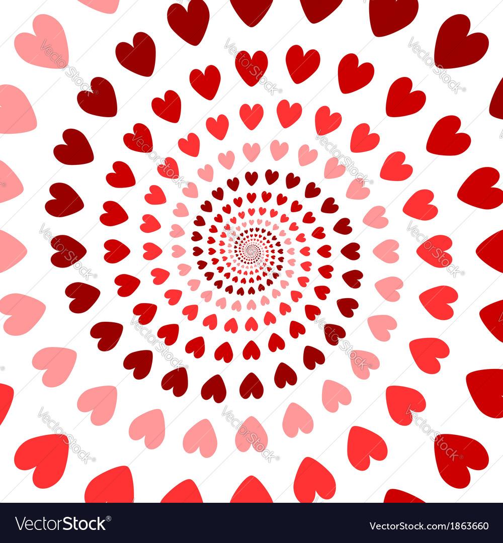 Design colorful spiral heart backdrop vector | Price: 1 Credit (USD $1)