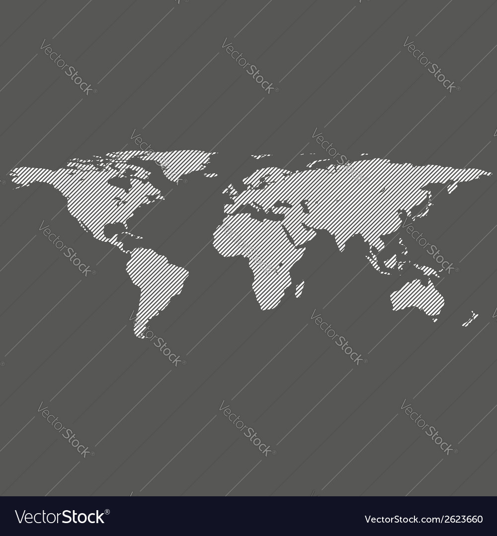 Diagonal lines world map vector | Price: 1 Credit (USD $1)