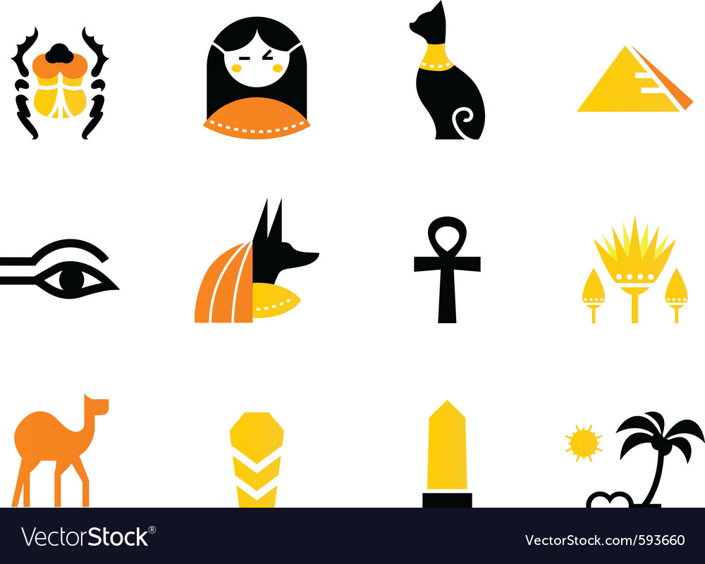 Egypt icons and design elements vector | Price: 1 Credit (USD $1)