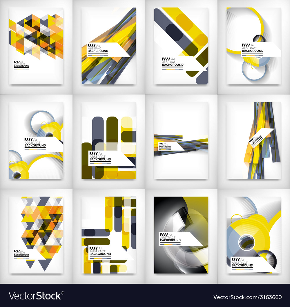 Geometric abstract business template vector | Price: 1 Credit (USD $1)